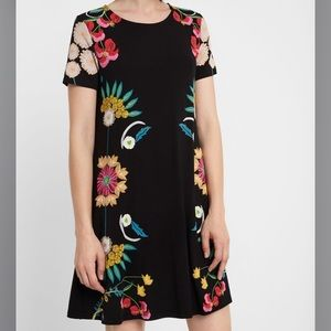 Desigual Floral T-Shirt Short Sleeve Dress Tunic
